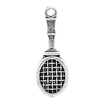 Packet 10 x Antique Silver Tibetan 29mm Tennis Racket Charm/Pendant ZX03830