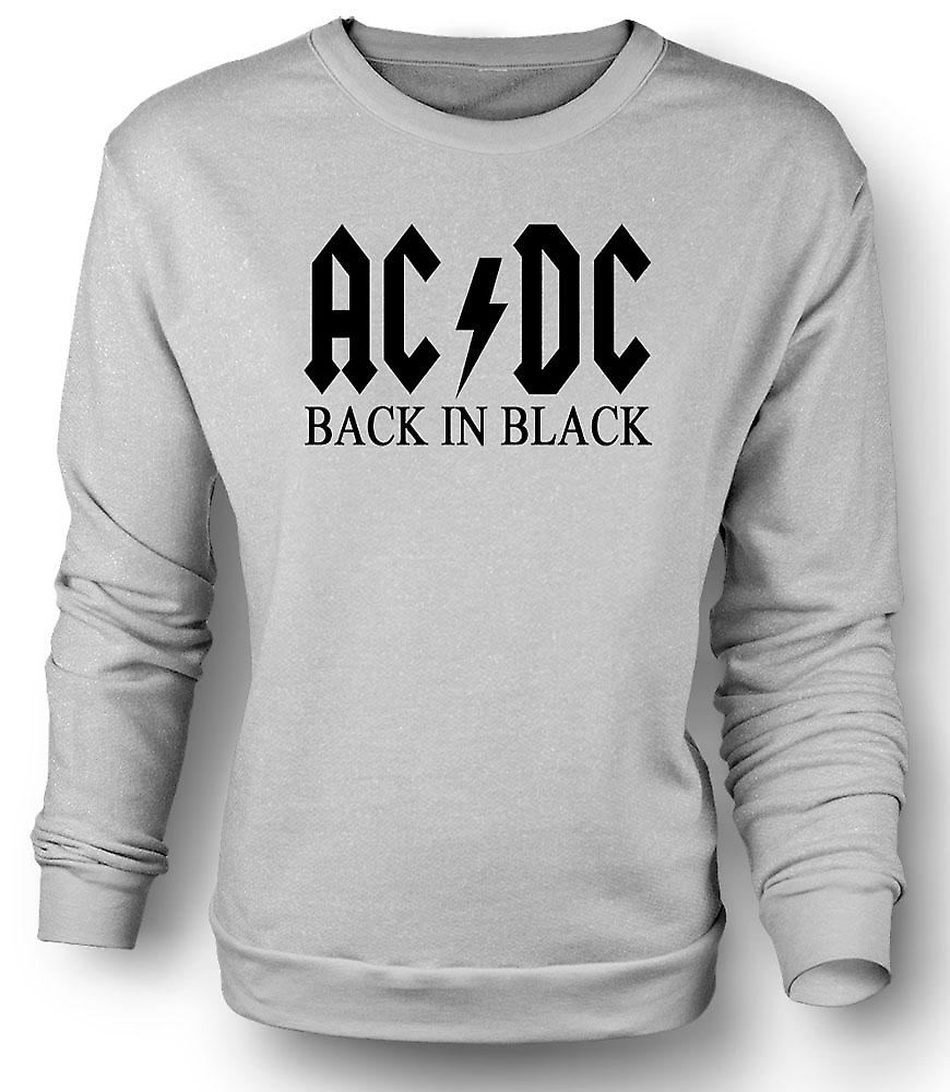 Mens Sweatshirt AC/DC Back In Black - Rock