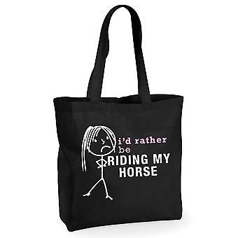 Mesdames, je serait plutôt être monté sur mon cheval noir sac à provisions coton