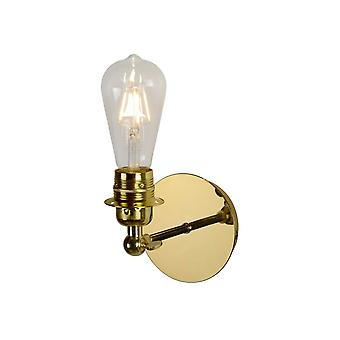 Lucide Retro Retro metalen Brass Wall Light