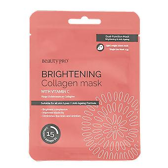 Beauty Pro Brightening Collagen Sheet Mask with Vitamin C 23g