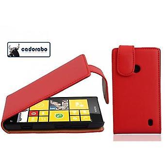 Cadorabo tilfældet for Nokia Lumia 520 sag Cover-telefon tilfældet i flip design i glat imiteret læder-sag cover beskyttende sag case sag bog folde stil