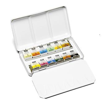Pebeo Aquarelle Fine Watercolour 12 Half Pan Tin Set
