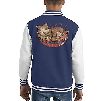 Neko Ramen Kid's Varsity Jacket