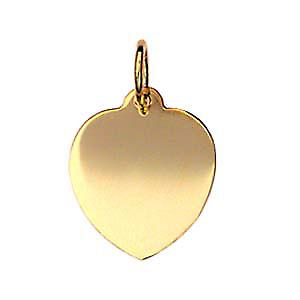 9ct Gold 16x14mm plain heart Disc