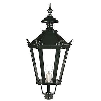 Nuova lantaarn 6 hoekig met kroontjes 90cm - groen