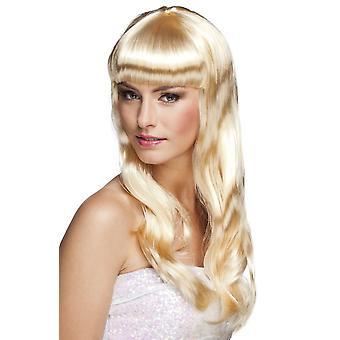 Womens Wig Chique Blonde Fancy Dress Accessory