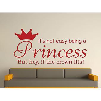 Être une princesse Wall Art autocollants - rouge foncé