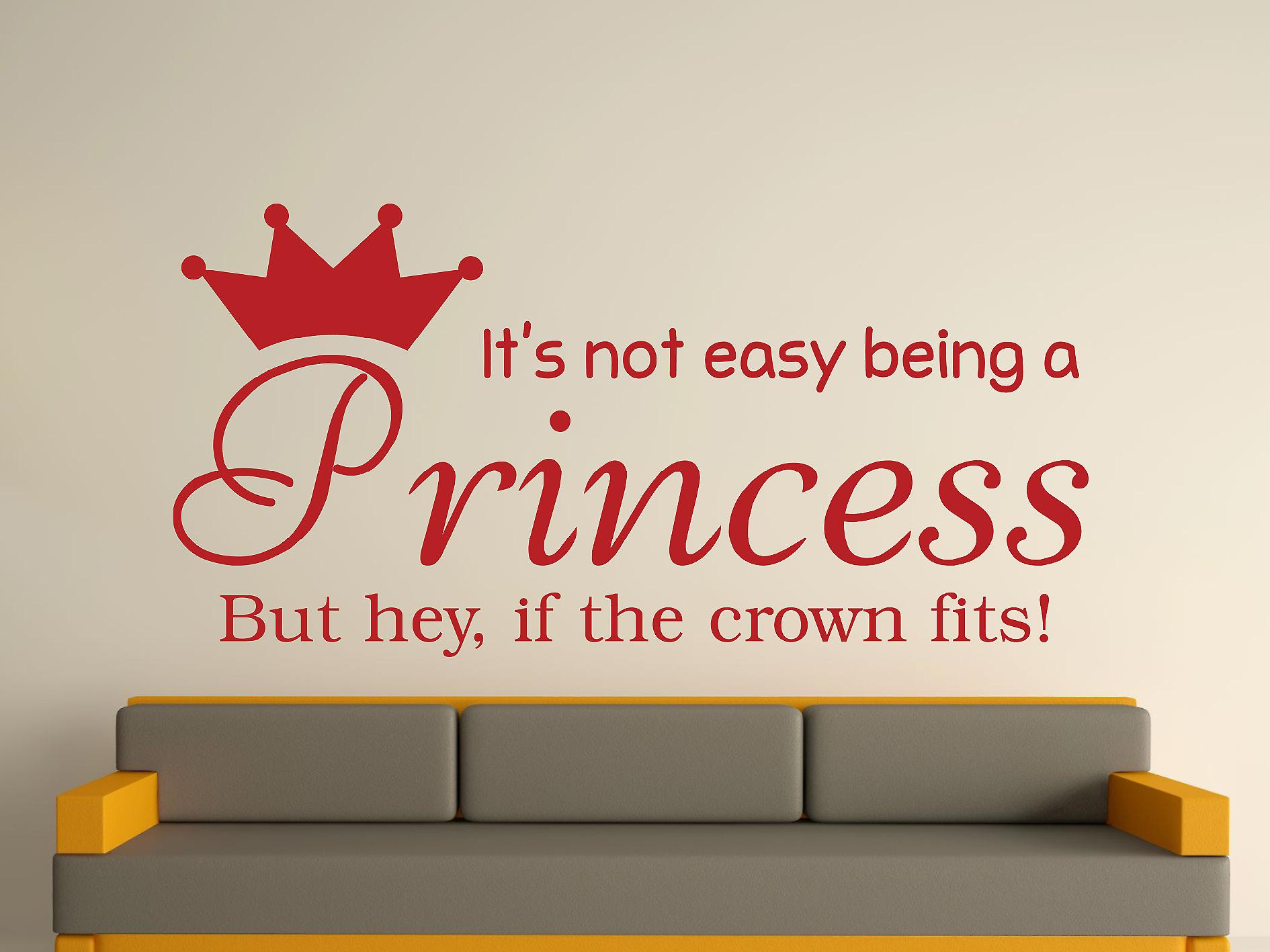 Being A Princess Wall Art Sticker - Dark Red