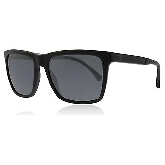 Emporio Armani EA4117 50176G Black EA4117 Rectangle Sunglasses Lens Category 3 Lens Mirrored Size 57mm