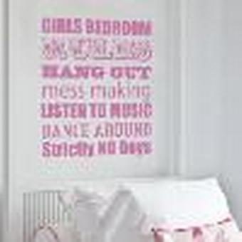 Bedroom Rules Wall Sticker