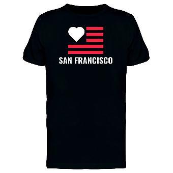 الحب علم سان فرانسيسكو المحملة الرجال-الصورة عن طريق Shutterstock