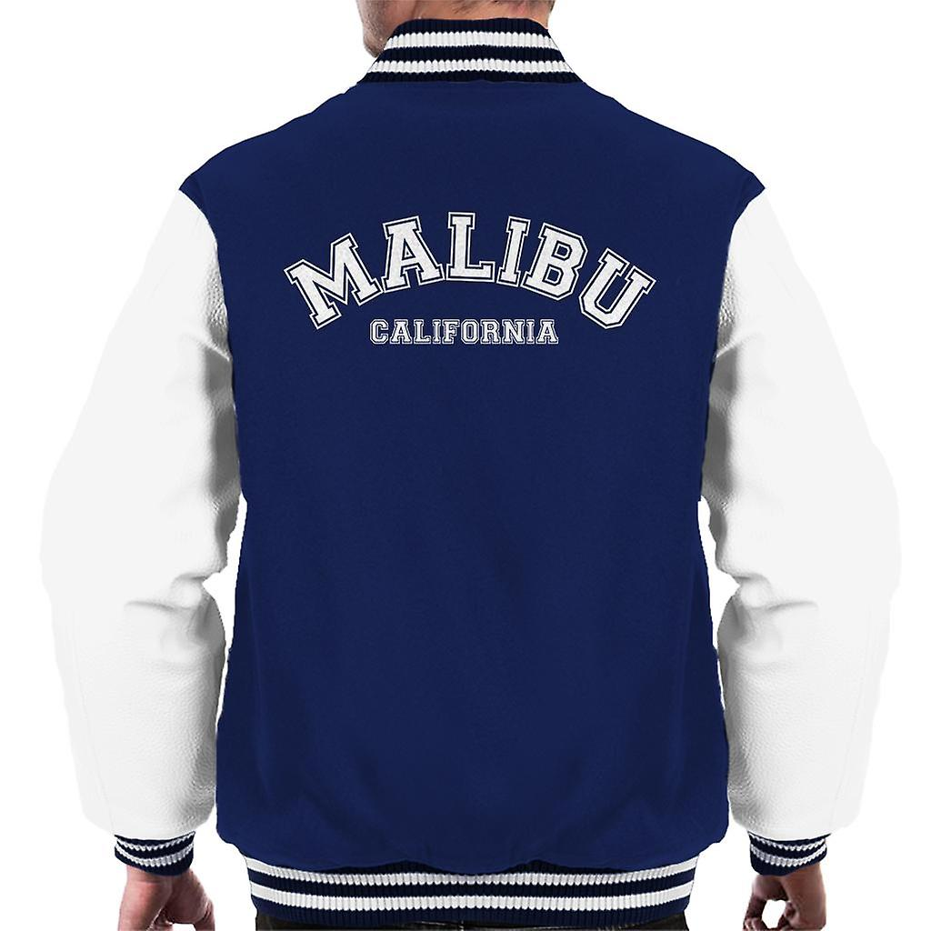 Malibu College Text Men's Varsity Jacket