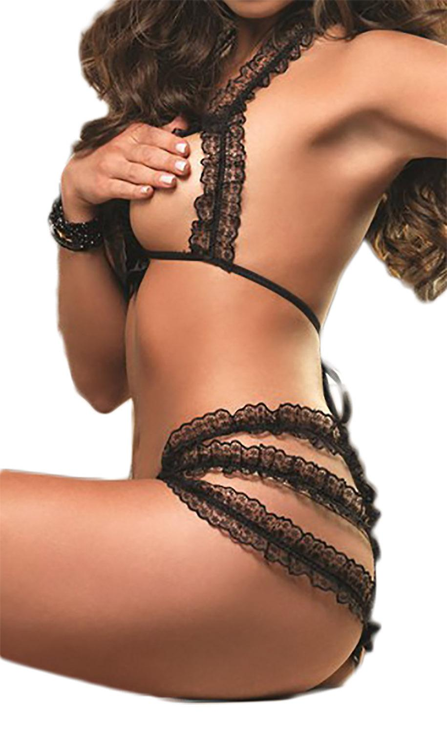 Waooh69 - Set lingerie with lace open Bica