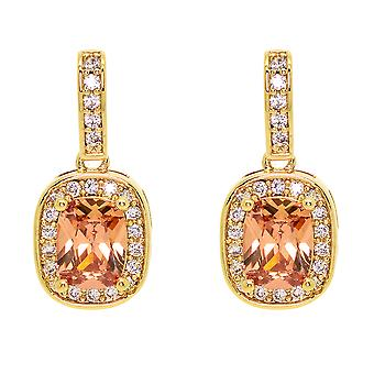 Ah! Jewellery Champagne Cushion Crystal from Swarovski Earrings