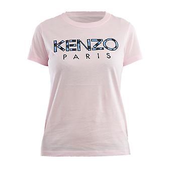 T-shirt de algodão rosa Kenzo