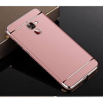Cell phone cover case for LeEco Le 2 bumper 3 in 1 cover chrome case rose gold