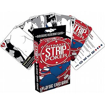 Intime Strip Poker kortspill (nm)