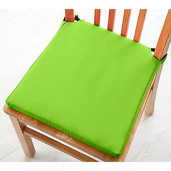 Cotton Twill Dining Chair Seat Pad Cushion - Lime