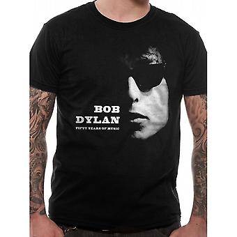 Bob Dylan Unisex Fifty Years Of Music Design T-Shirt