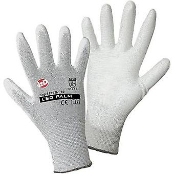 L+D worky ESD Nylon/Carbon-PU 1171 Nylon Protective glove Size (gloves): 9, L EN 388:2016 CAT II 1 pair