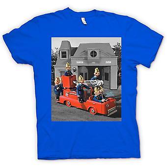 Kids T-shirt - Trumpton brandweer - Cartoon Retro geïnspireerde