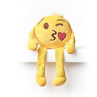 Emoji Cushion Shelf Buddy - Kiss Wink