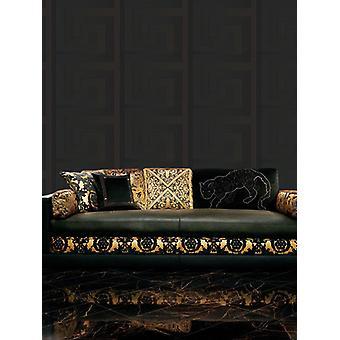 Versace Black Greek Key Wallpaper 10m x 70cm 93523-4