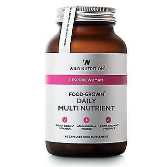Wild Nutrition Bespoke Woman Food-Grown Daily Multi Nutrient Vegicaps 60