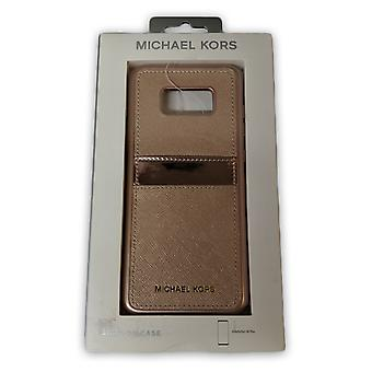 Original Michael Kors Saffiano Leather snap-on caso para Galaxy S8 Plus-Rose Gold