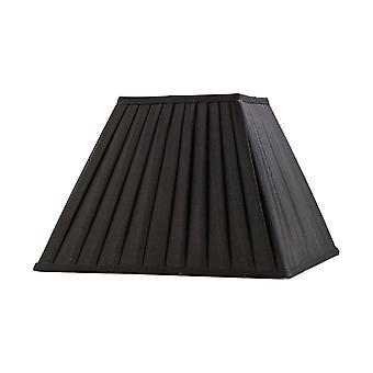Diyas Leela Square Pleated Fabric Shade Black 175/350mm X 250mm
