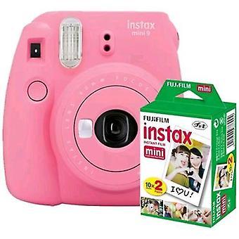 Fujifilm instax mini 9 kits 20 prints flamingo pink
