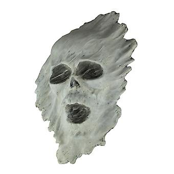 White 3D Ghostly Skull Creepy Halloween Decor Wall Hanging