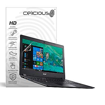 Celicious Vivid Invisible Glossy HD Screen Protector Film Compatible with Acer Aspire 1 A114-32 [Pack of 2]