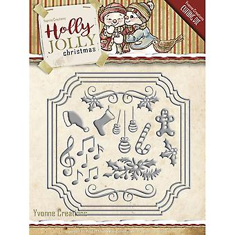 Find It Trading Yvonne Creations Die-Card Set, Holly Jolly