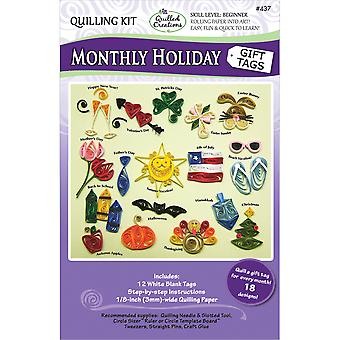 Quilling Kit-Monthly Holiday Gift Tags Q437