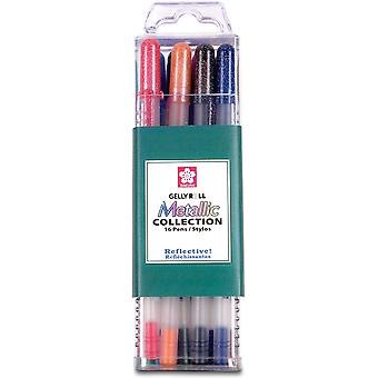 Gelly Roll Metallic Medium Point Pens 16 Pkg Assorted Colors 57369