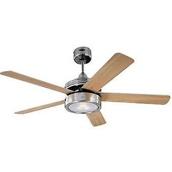 Ceiling fan Westinghouse Hercules (Ø) 132 cm Wing colour: Beech, Maple Case colour: Nickel (brushed)