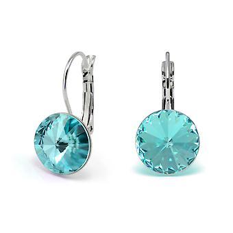 Boucles d'oreilles de cristal lumière Turquoise EMB 1.15