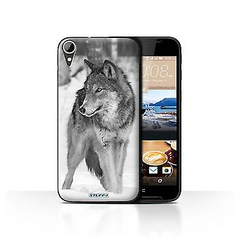 STUFF4 Case/Cover for HTC Desire 830/Wolf/Mono Zoo Animals