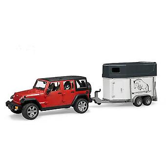 Bruder Jeep Wrangler Unlimited Rubicon C / Trailer Equino
