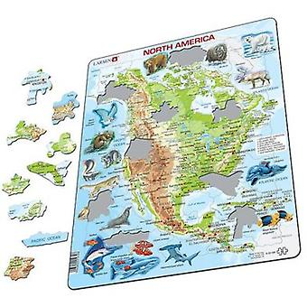 Larsen Physical Puzzle Great North America (Toys , Boardgames , Puzzles)