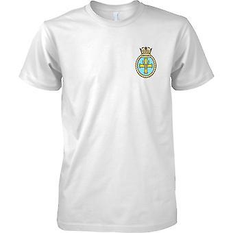 HMS Portland - atual cor de t-shirt do navio da Marinha Real