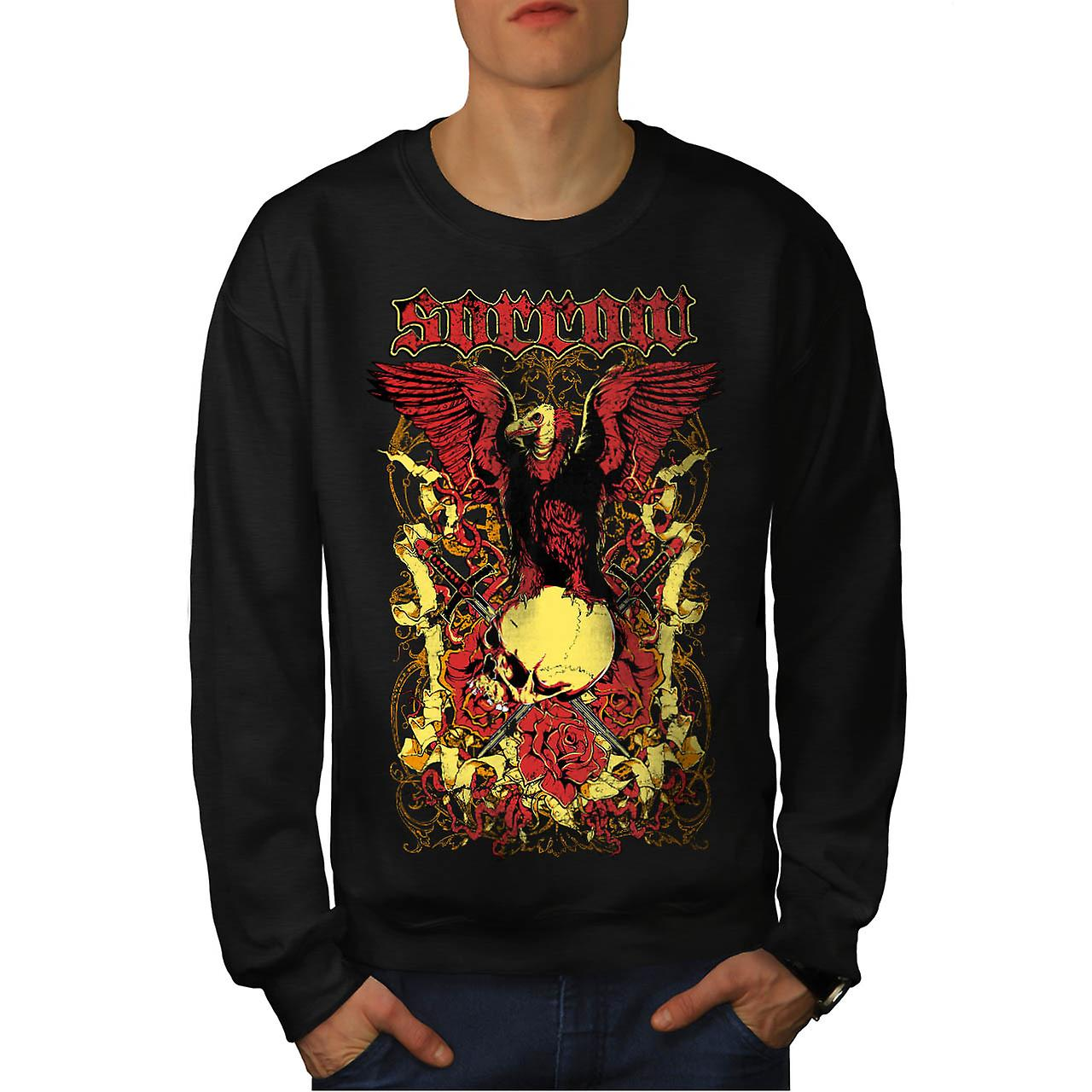 Sorror Death Ground Grave Yard Men Black Sweatshirt | Wellcoda