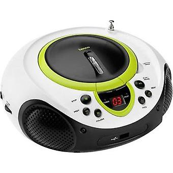 FM Radio/CD Lenco SCD-38 USB AUX, CD, FM, USB Green