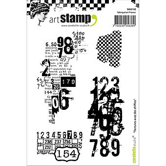 Carabelle Studio Cling Stamp A6-Textures With Numbers SA60150