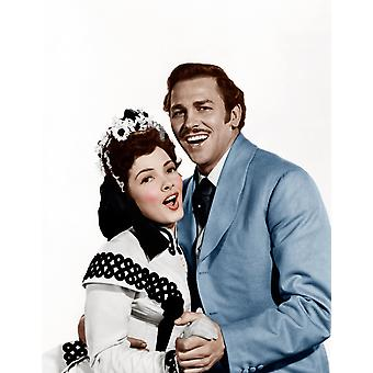 Show Boat From Left Kathryn Grayson Howard Keel 1951 Photo Print