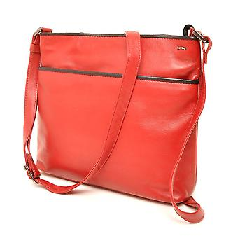 Berba Soft cross-over zipper bag 005-440 red/black