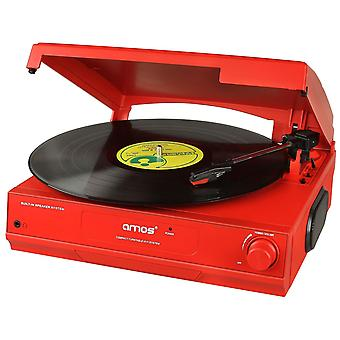 AMOS USB Turntable (Red)