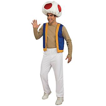 Toad Super Mario Princess Peach Protector Nintendo 1980s Games Men Costume